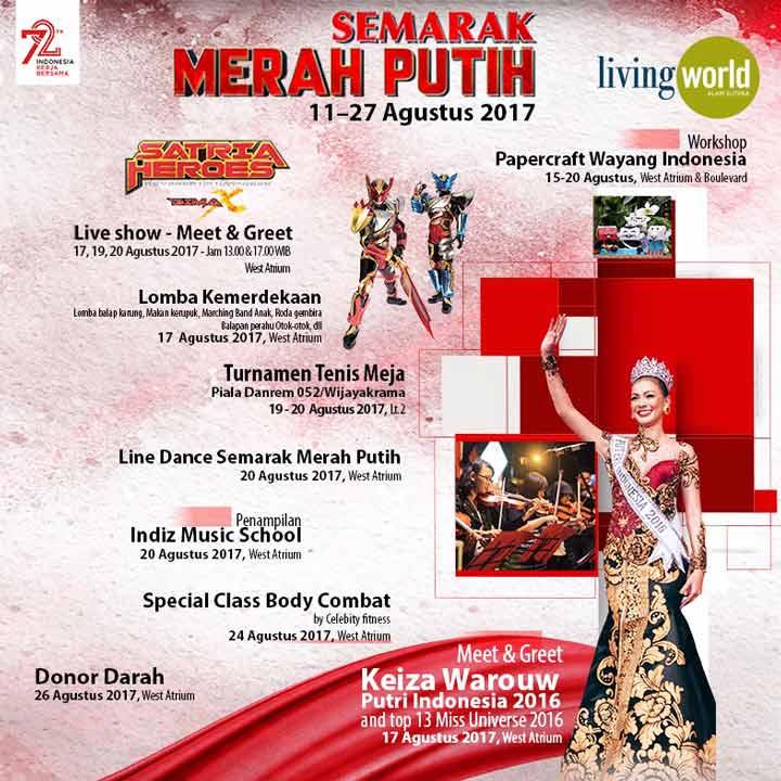 Event Semarak Merah Putih di Living World