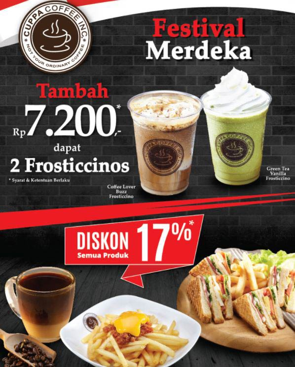 Merdeka Festival Promotions from Cuppa Coffee
