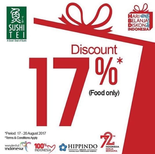 Discount 17% from Sushi Tei</h3>