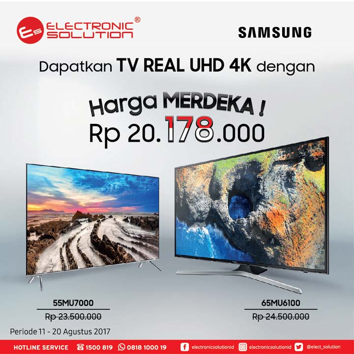 Promotions Samsung TV Harga Merdeka from Electronic Solution</h3>