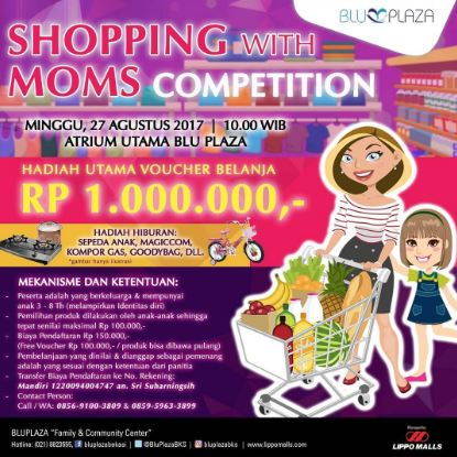 Shopping With Moms Competition at Blu Plaza Bekasi