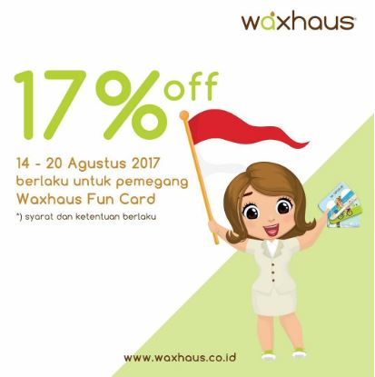 Discount 17%  from Waxhaus at Bintaro Jaya Xchange Mall</h3>