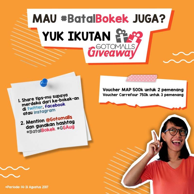 Giveaway #BatalBokek from Gotomalls