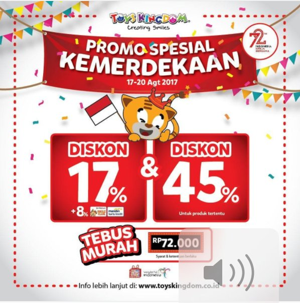 Special Independence Promotions from Toys Kingdom