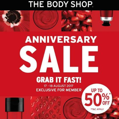 Sale Grab It Fast at The Body Shop