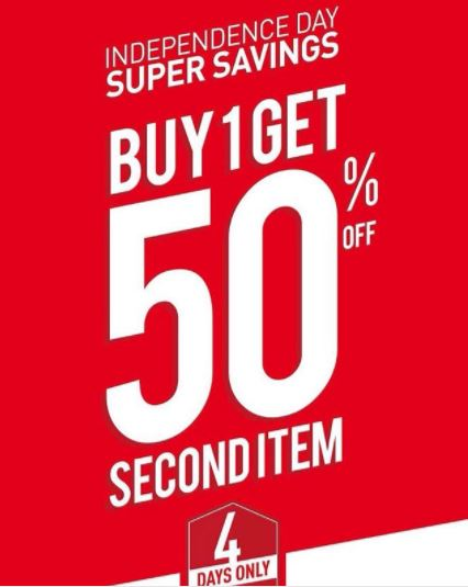 Buy 1 Get 50% off for Second Item from Sports Station