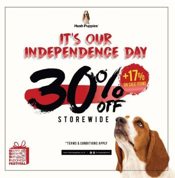 Discount 30% Independence Day from Hush Puppies