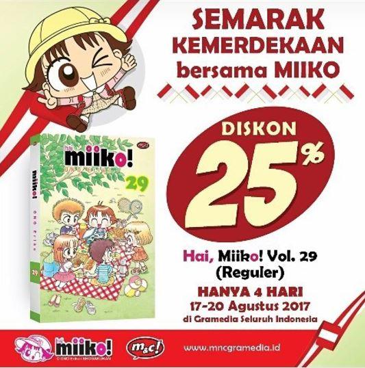 Discount 25% for Miiko Comic Series in Gramedia
