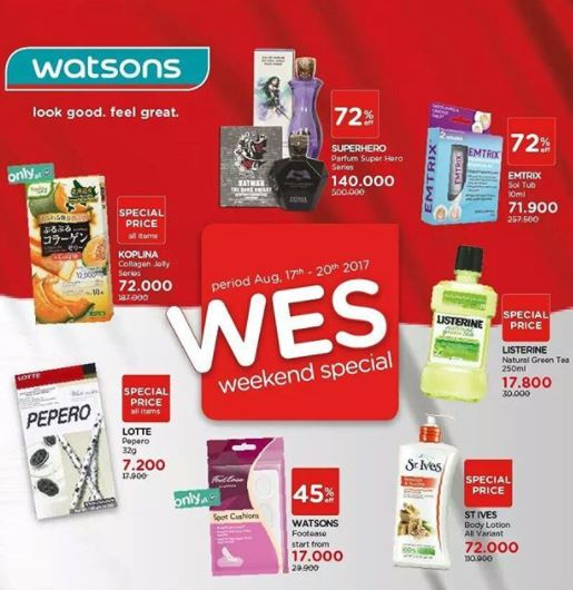 Weekend Special Promo from Watsons