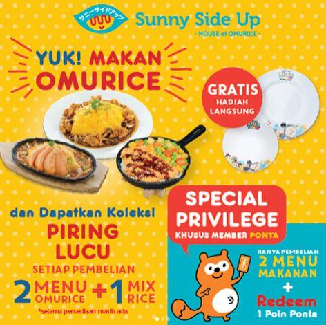 Promosi Sunny Side Up Makan dan Dapatkan Piring Cantik