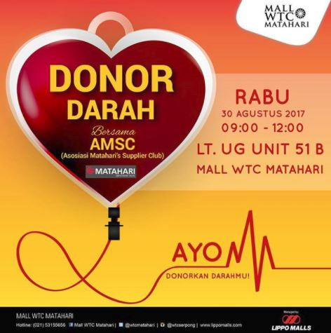 Blood Donor Together with AMSC at WTC Mall Matahari