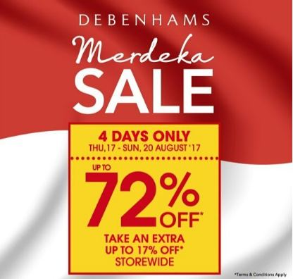 Discount Up to 72% from Debenhams