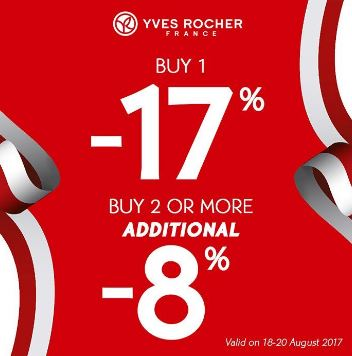 Buy 1 Discount 17% Buy 2 or More Additional 8% di Yves Rocher