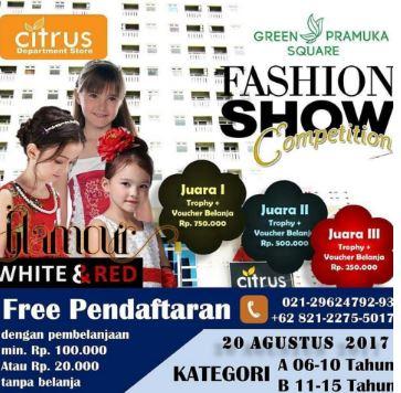 Fashion Show Competition Citrus Dept Store at Green Pramuka Square