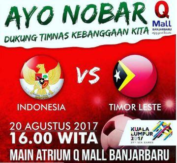 Watching Timnasional Indonesia vs Timor Leste at Q Mall Banjarbaru