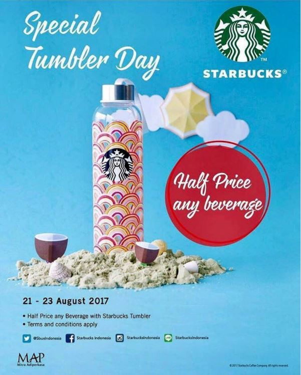 Special Tumbler Day Promotions from Starbucks Coffee