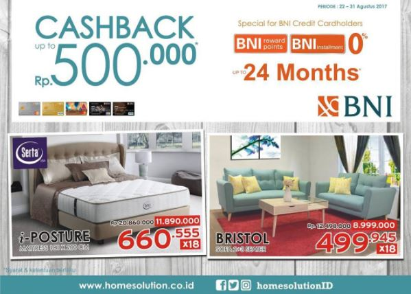 Cashback Up to Rp 500.000 from Home Solution