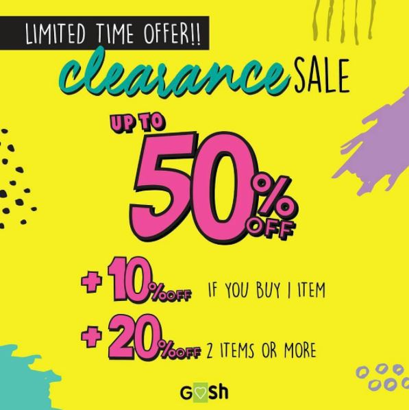 Clearance Sale Up To 50% from Gosh Shoes