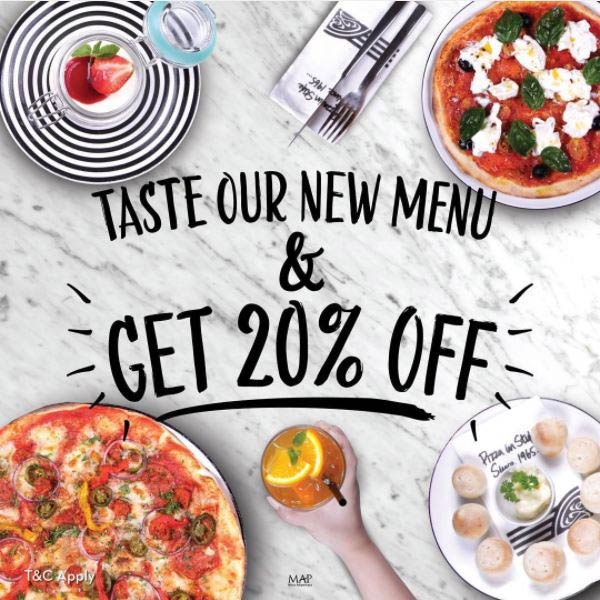 Discount 20% from Pizza Express