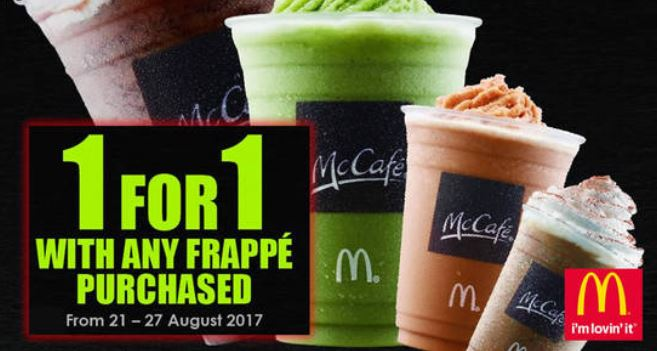 1 For 1 Promotion at Mcdonald's