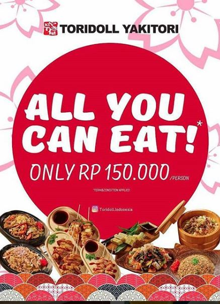 All You Can Eat Promotion from Toridoll Yakitori</h3>