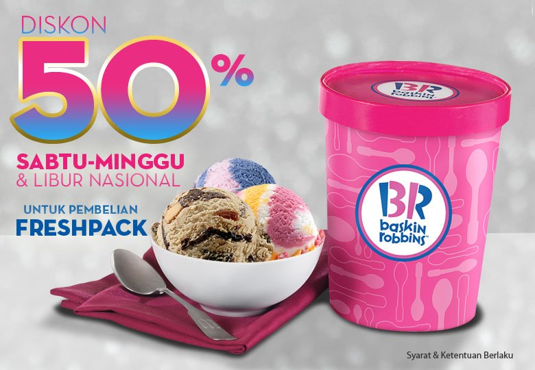 Discount 50% from Baskin Robbins</h3>