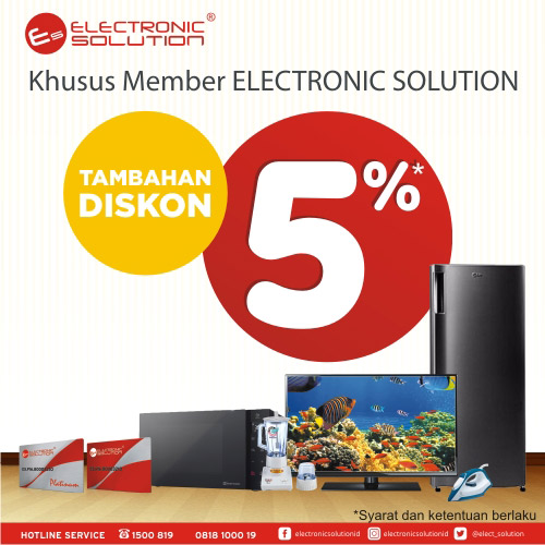 Adiitional Discount 5% for Electronic Solution Member