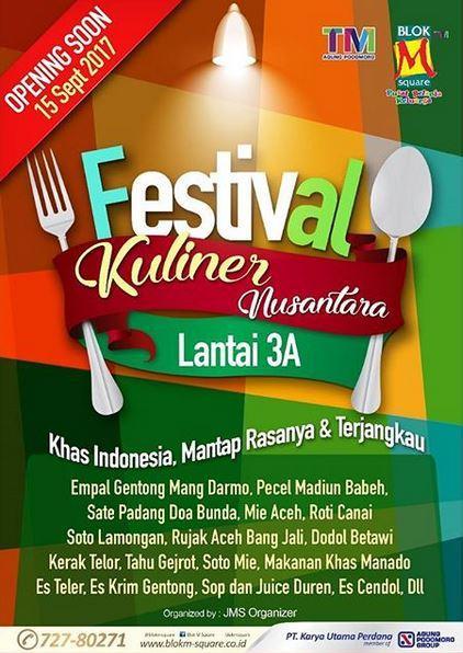 Festival Kuliner Nusantara At Blok M Square Gotomalls