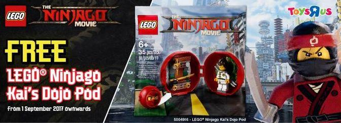 Promotion Free Lego Ninjago Kais Dojo Pod At Toysrus Forum The