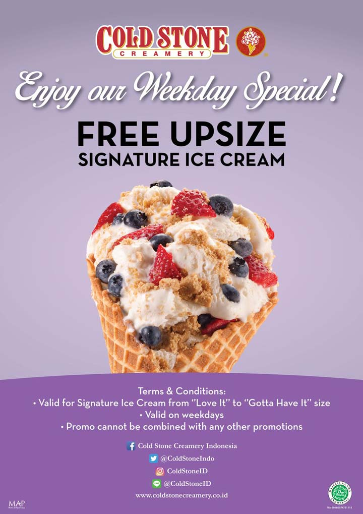 Weekday Special Promotions from Cold Stone