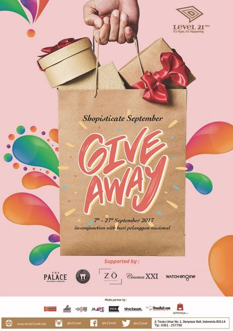 """Shopisticate September """"GIVEAWAY"""" Level 21 Mall"""