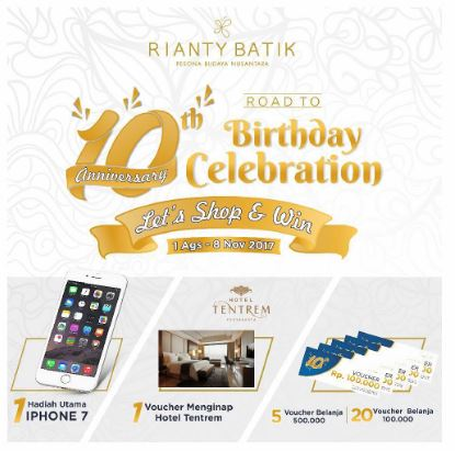 Win Exciting Rewards by Shopping at Rianty Batik