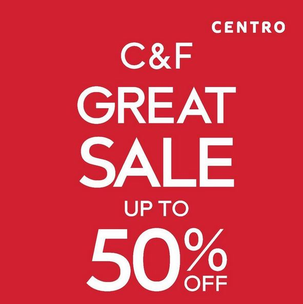 Discount Up to 50% at Centro Department Store</h3>