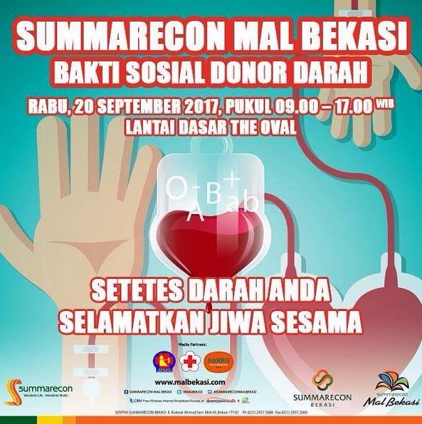 Event Blood Donation at Summarecon Mal Bekasi