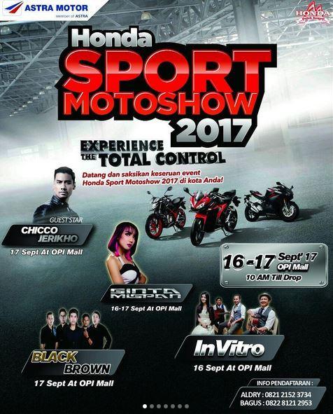 Honda Sport Motoshow 2017 at Opi Mall