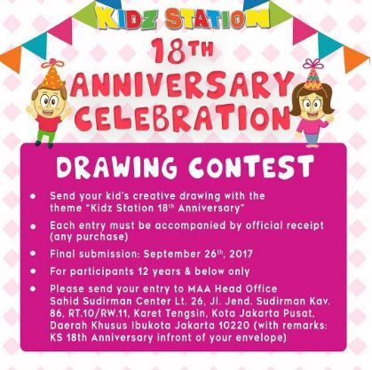 Drawing Contest di Kidz Station