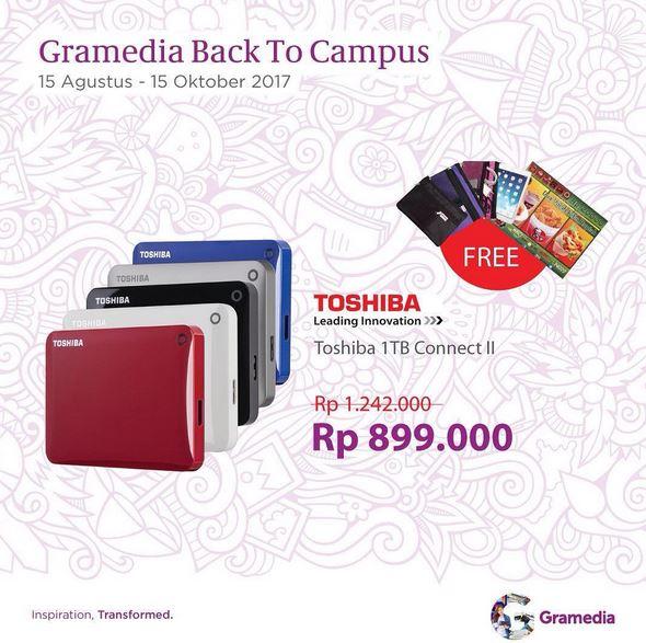 Promotion Hardisk Toshiba at Gramedia