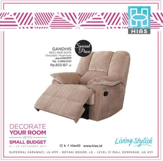 Special Price for Gandhis Recliner Sofa at HIAS