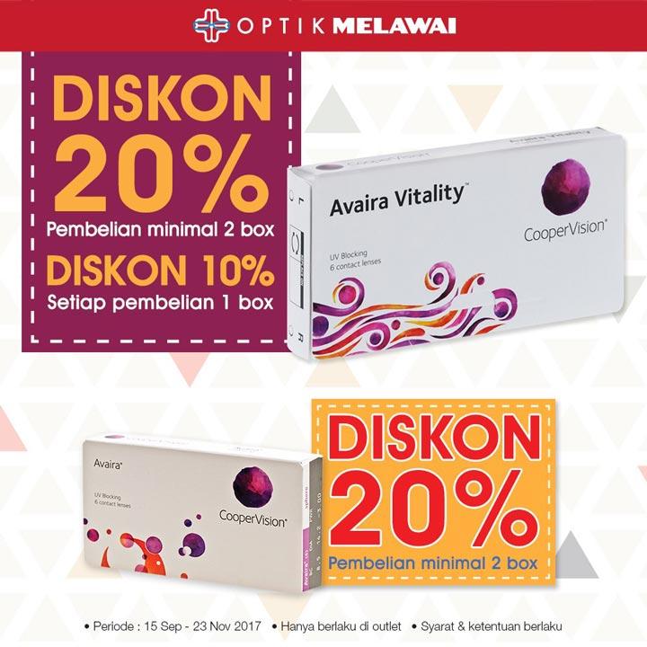 Discount 20% from Optik Melawai