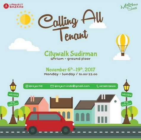 Calliing All Tenant at Citywalk Sudirman