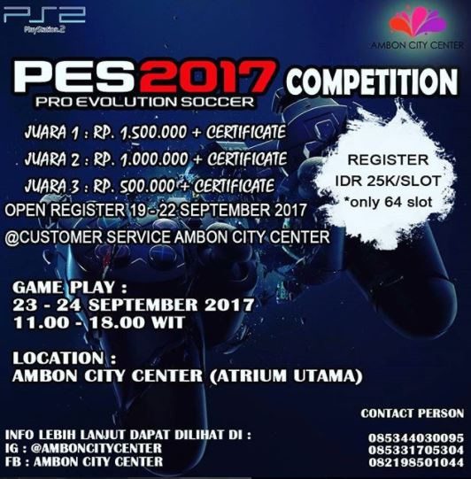 PES 2017 Competition at Ambon City Center