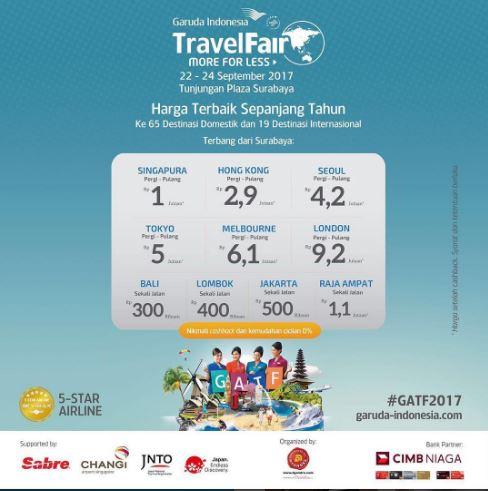 Berwisata bersama Garuda Indonesia di Tunjungan Plaza