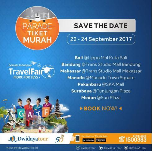 Garuda Indonesia Cheap Parade Tour Promo at Dwidaya Tour