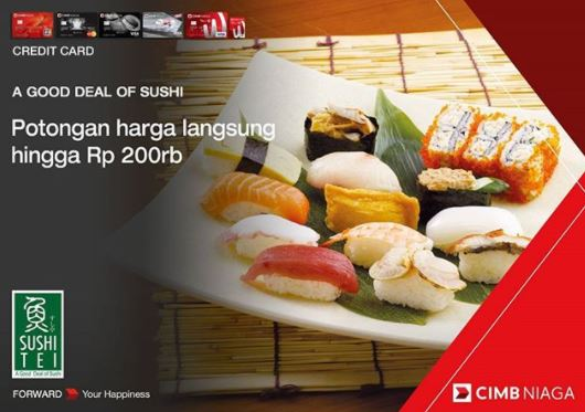 Promotional Discount Up to Rp 200.000 at Sushi Tei