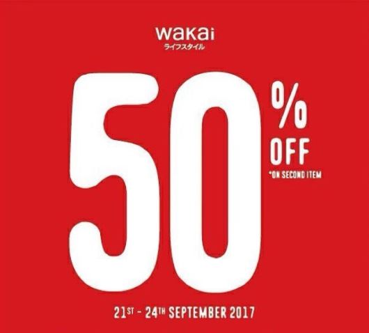 50% off  from Wakai