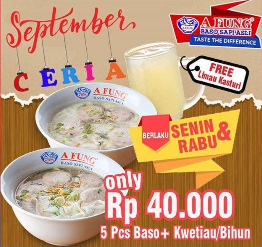 Cheerful September Promo from A Fung Baso Sapi Asli