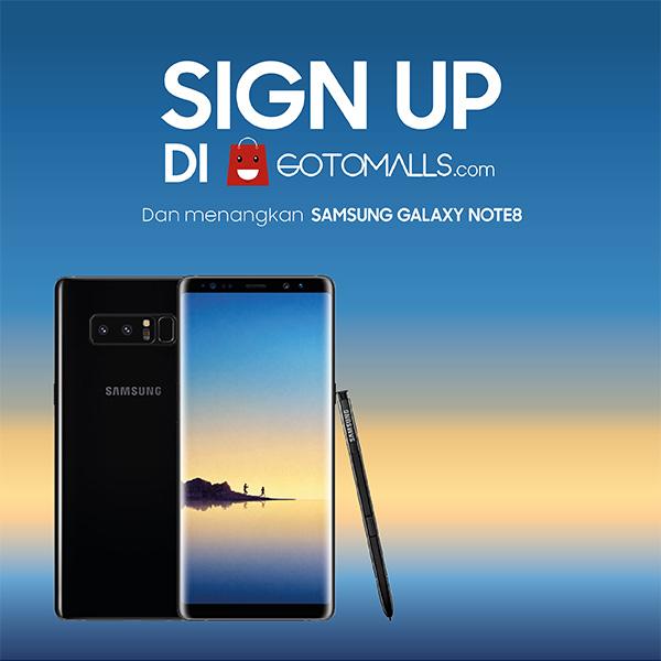 Menangkan Samsung Galaxy Note8 dari Gotomalls