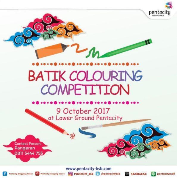 Batik Coloring Competition At Pentacity Mall Gotomalls
