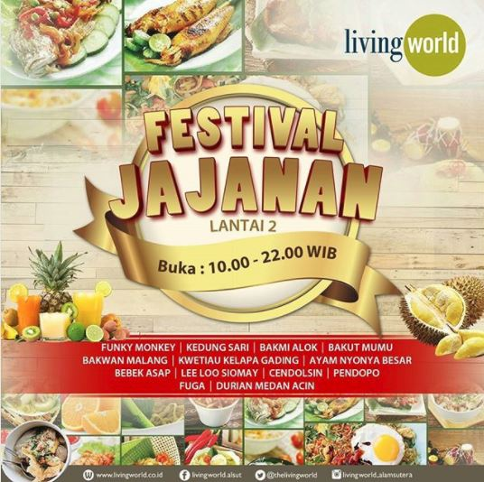 Festival Jajanan di Living World Mall