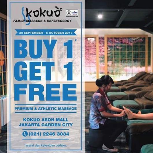 buy 1 get 1 free from kokuo reflexology at aeon mall jakarta garden